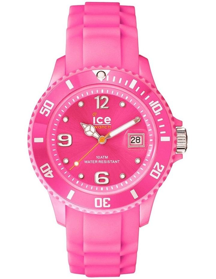 Ice Forever Medium Pink Silicone Quartz Watch image 1