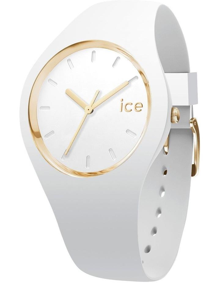 Ice Glam Small White Silicone Quartz Watch image 1
