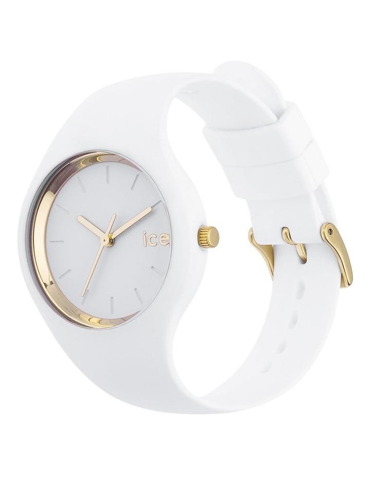 Ice Glam Small White Silicone Quartz Watch image 3
