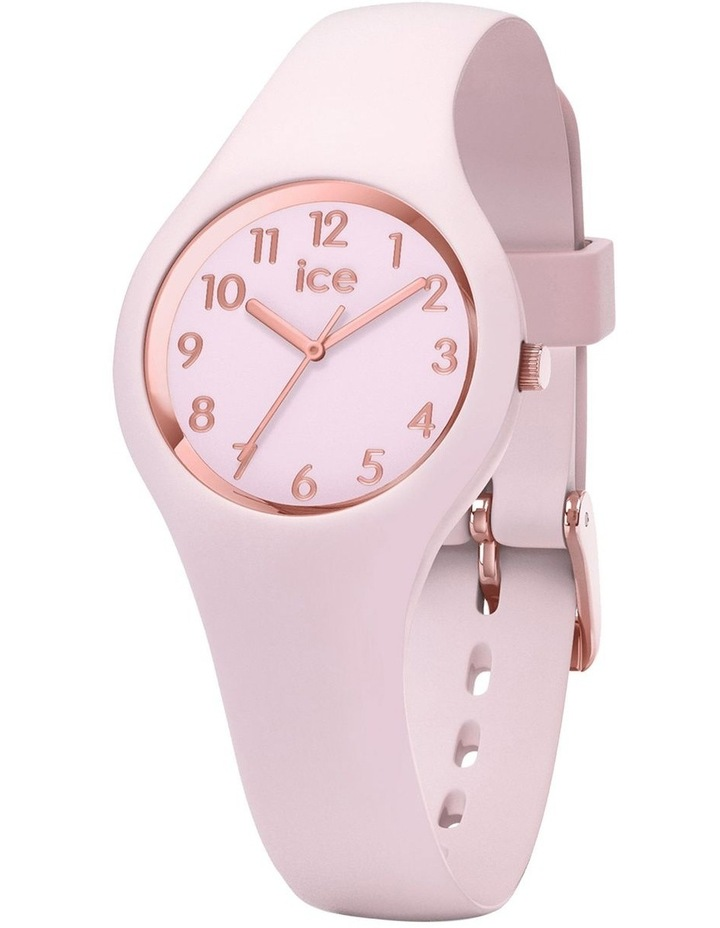 Ice Glam Pastel Lady Numbers Extra Small Pink Silicone Quartz Watch image 1