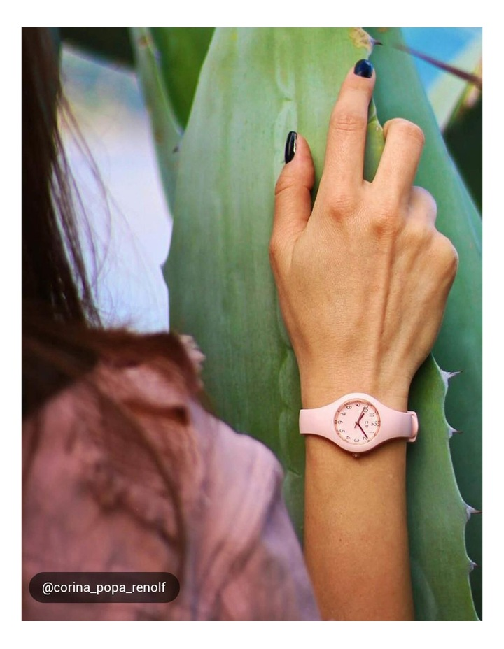 Ice Glam Pastel Lady Numbers Extra Small Pink Silicone Quartz Watch image 2