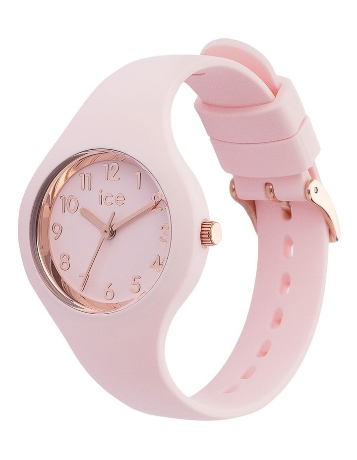 Ice Glam Pastel Lady Numbers Extra Small Pink Silicone Quartz Watch image 3