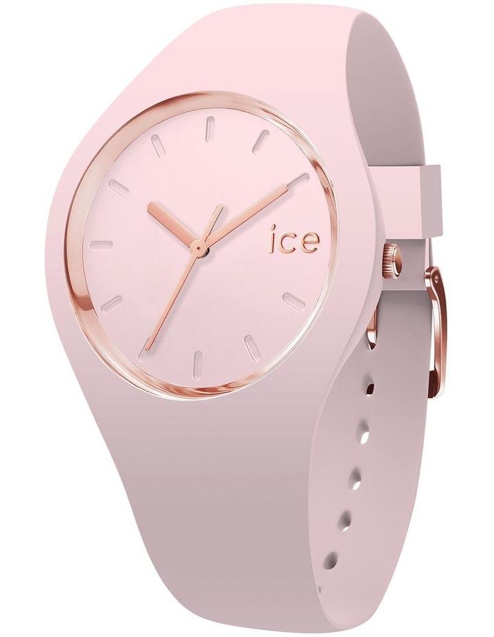 Ice Glam Pastel Lady Unisex Pink Silicone Quartz Watch image 1