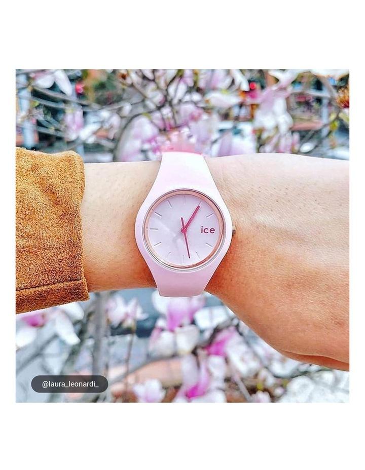 Ice Glam Pastel Lady Unisex Pink Silicone Quartz Watch image 2