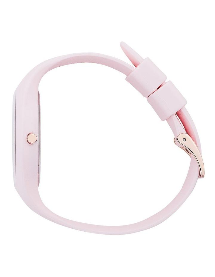 Ice Glam Pastel Lady Unisex Pink Silicone Quartz Watch image 3