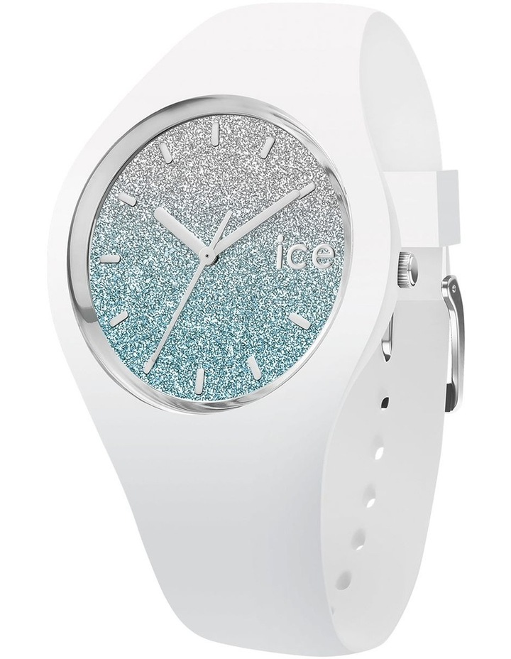 Ice Lo White Medium Blue Silicone Quartz Watch image 1