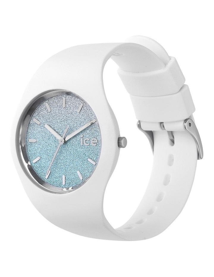 Ice Lo White Medium Blue Silicone Quartz Watch image 3