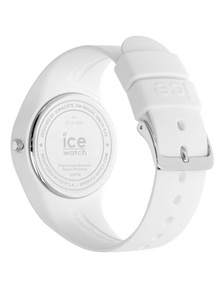 Ice Lo White Medium Blue Silicone Quartz Watch image 5
