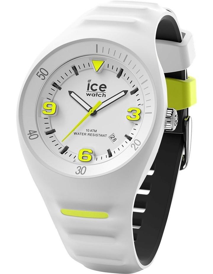 Ice P. Leclercq Yellow Medium White Silicone Chronograph Watch image 1