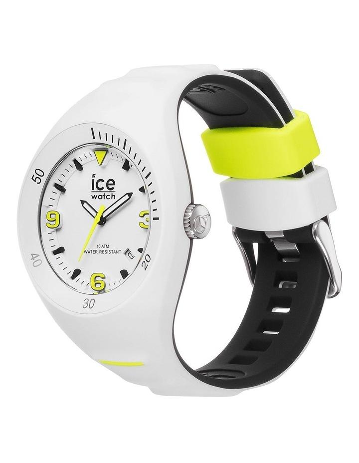 Ice P. Leclercq Yellow Medium White Silicone Chronograph Watch image 2