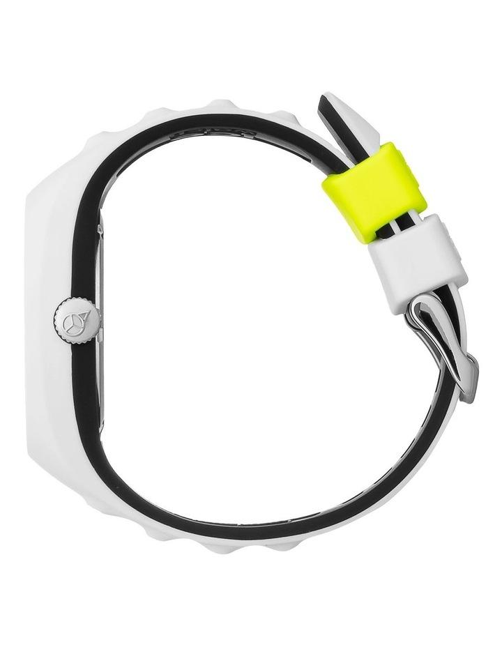 Ice P. Leclercq Yellow Medium White Silicone Chronograph Watch image 3