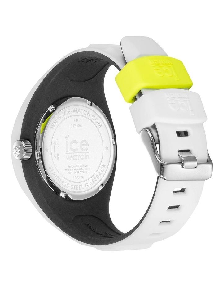Ice P. Leclercq Yellow Medium White Silicone Chronograph Watch image 4
