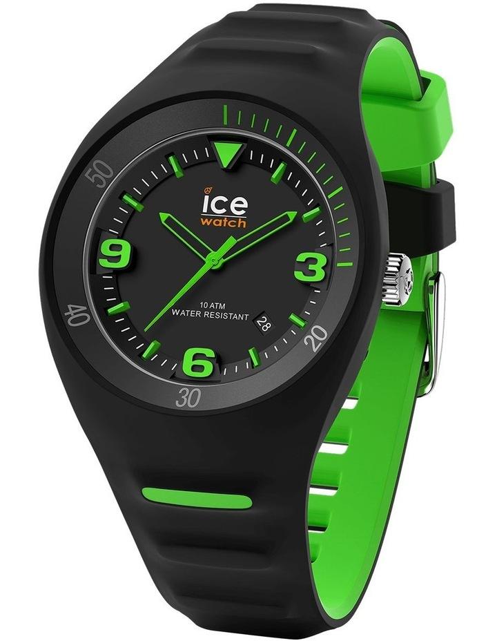 Ice P. Leclercq Green Medium Black Silicone Chronograph Watch image 1