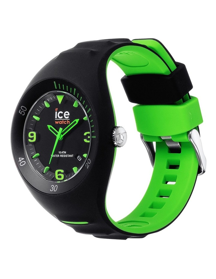 Ice P. Leclercq Green Medium Black Silicone Chronograph Watch image 2