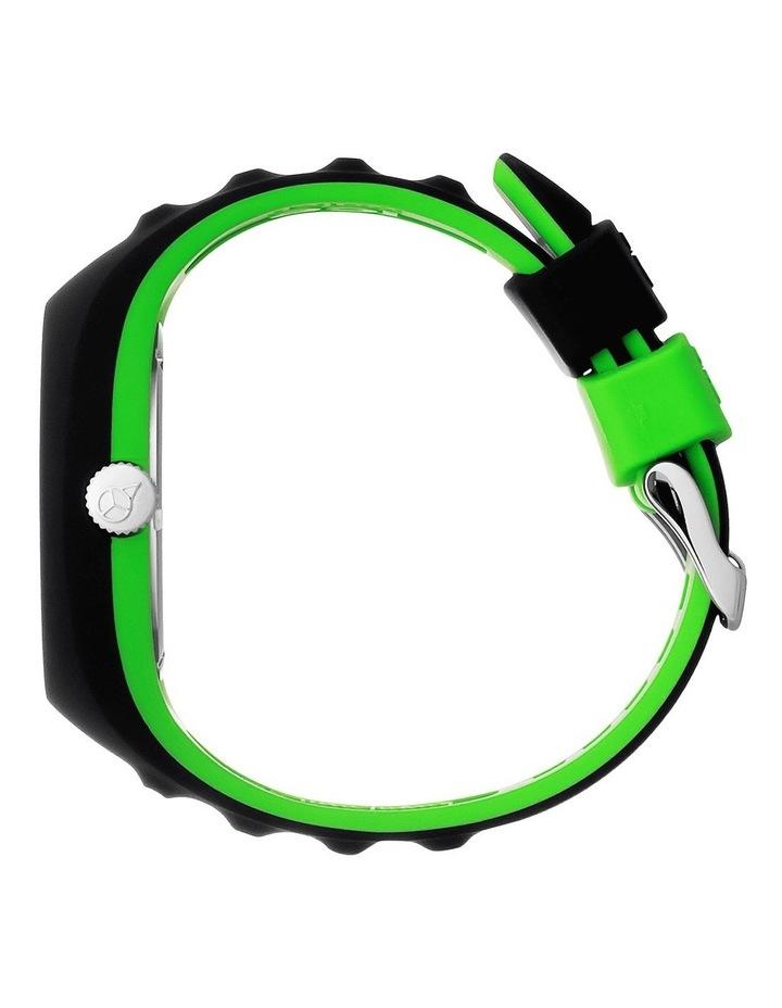 Ice P. Leclercq Green Medium Black Silicone Chronograph Watch image 3