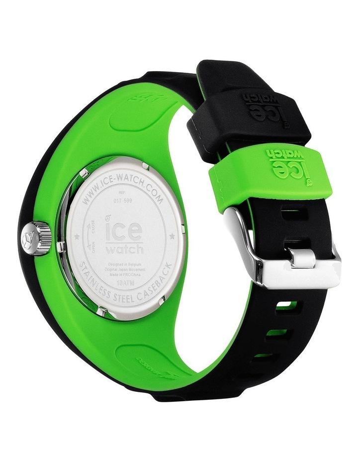 Ice P. Leclercq Green Medium Black Silicone Chronograph Watch image 4
