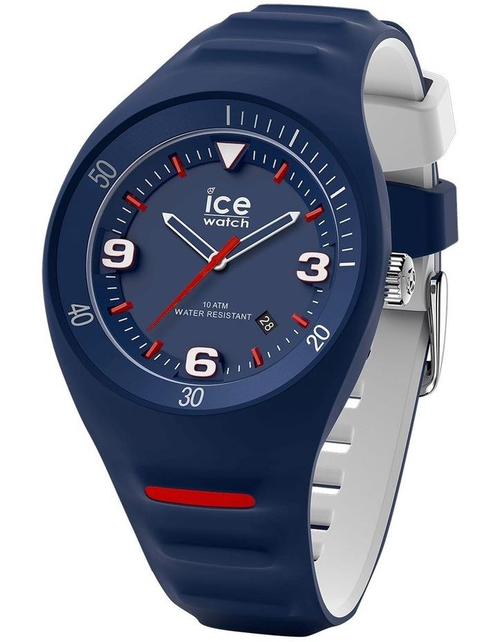 Ice P. Leclercq Medium Blue Silicone Chronograph Watch image 1