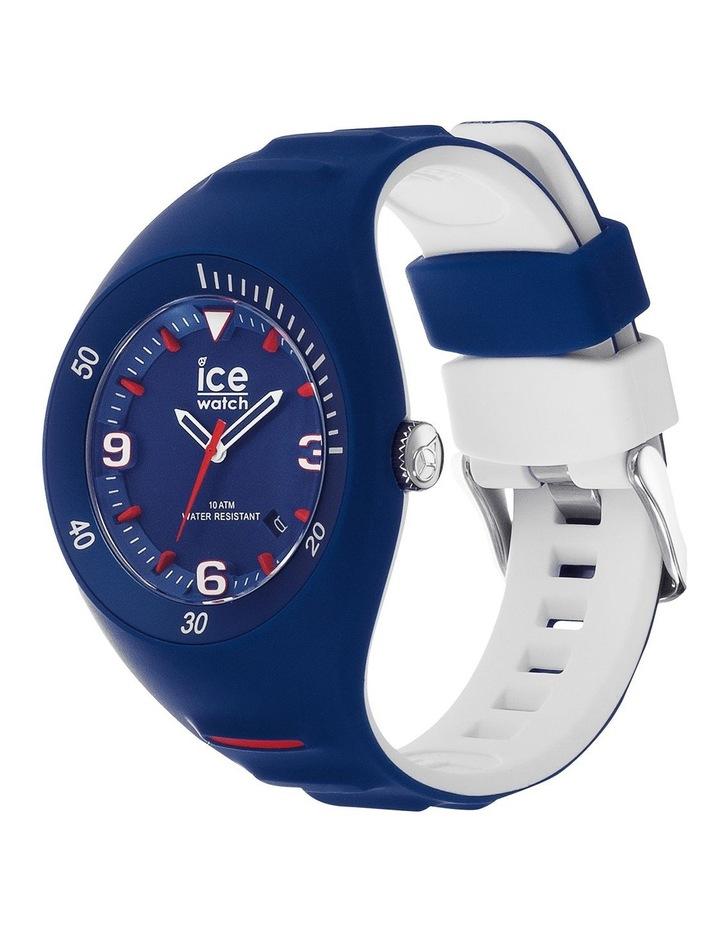 Ice P. Leclercq Medium Blue Silicone Chronograph Watch image 2