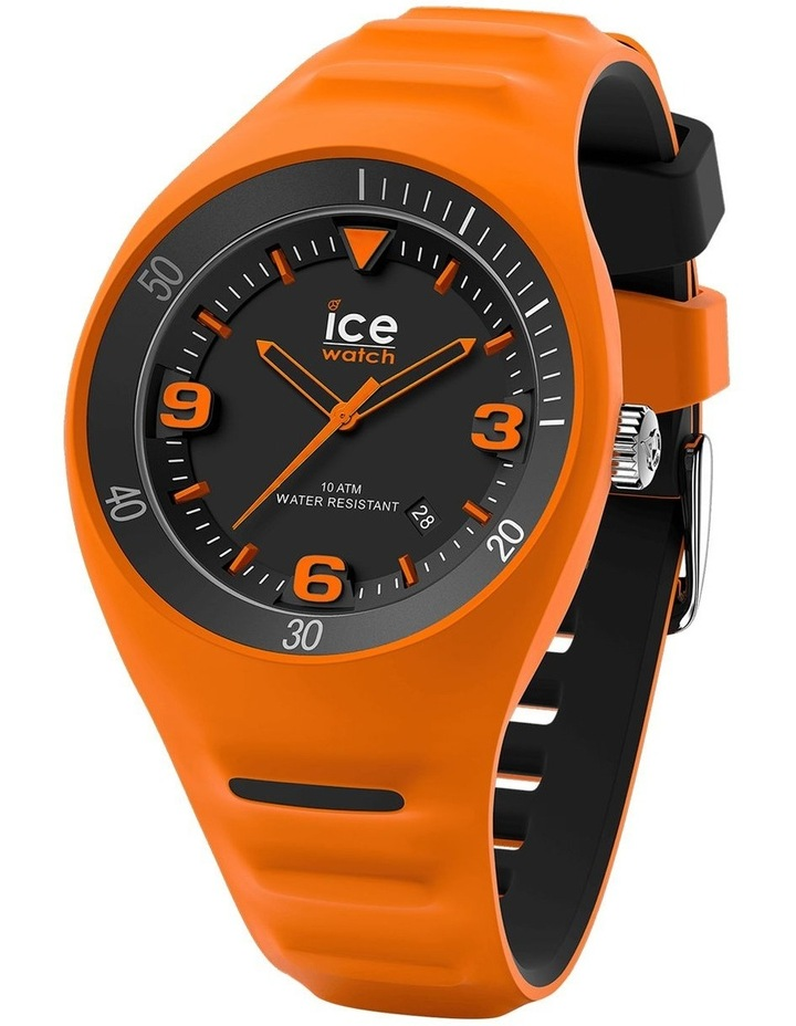 Ice P. Leclercq Medium Orange Silicone Chronograph Watch image 1
