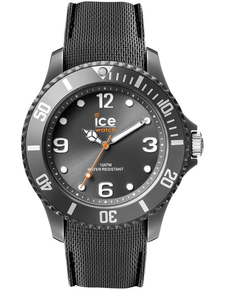 Ice Sixty Nine Anthracite Large Black Silicone Quartz Watch image 1