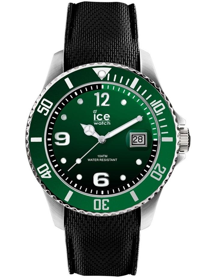 Ice Steel Medium Green Silicone Quartz Watch image 1