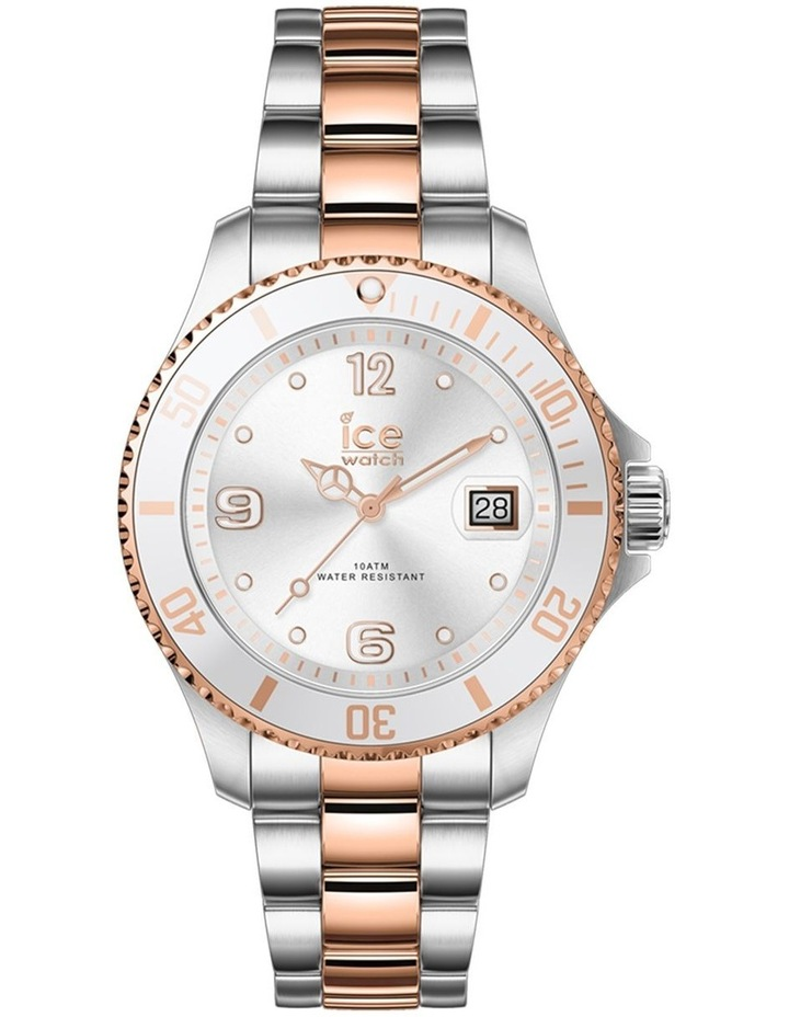 Ice Steel Rose Gold Small Silver Silicone Quartz Watch image 1