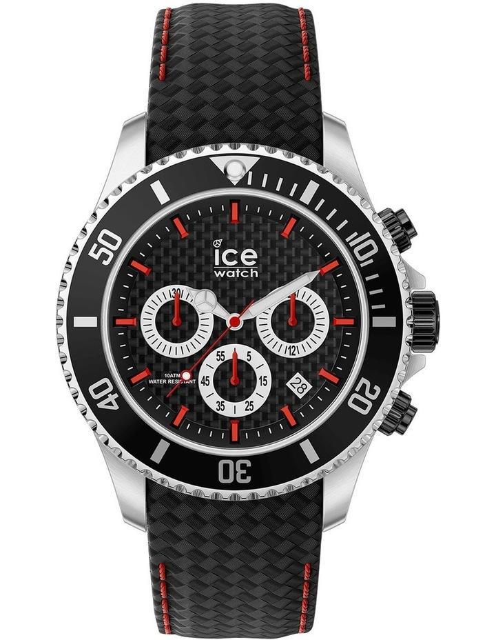 Ice Steel Racing Large Black Silicone Quartz Watch image 1