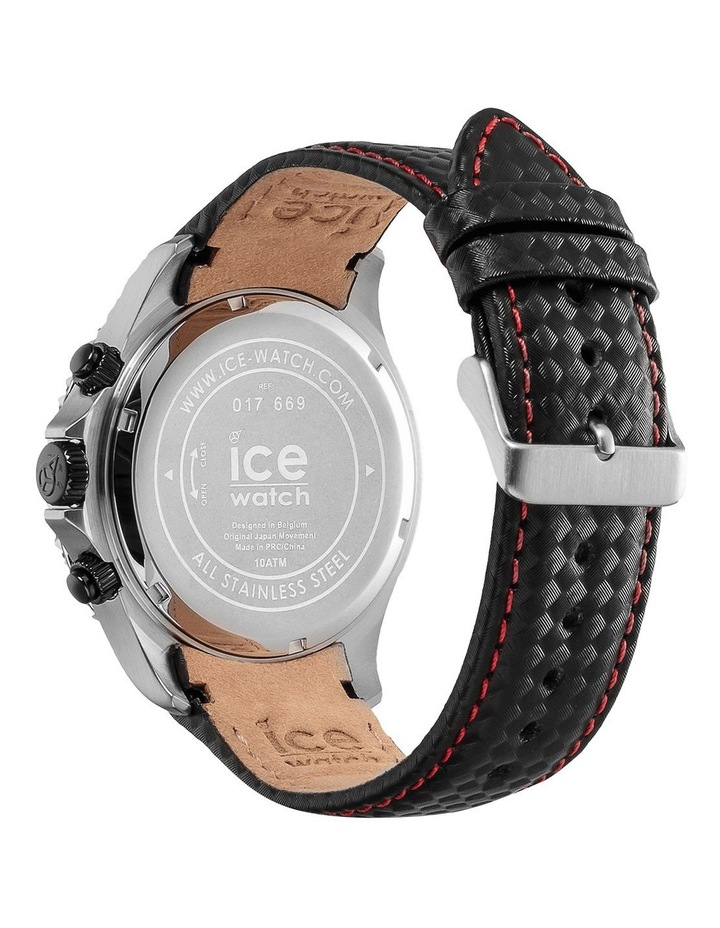 Ice Steel Racing Large Black Silicone Quartz Watch image 5