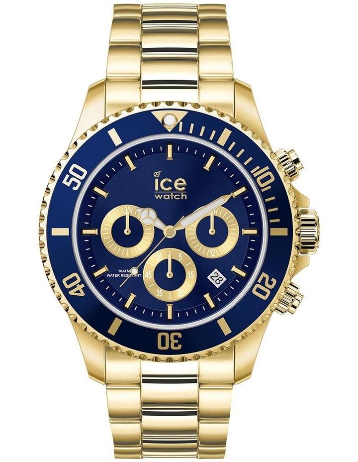Ice Steel Blue Medium Gold Silicone Quartz Watch image 1