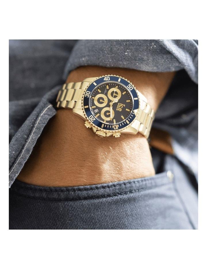 Ice Steel Blue Medium Gold Silicone Quartz Watch image 2
