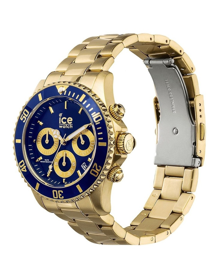 Ice Steel Blue Medium Gold Silicone Quartz Watch image 3