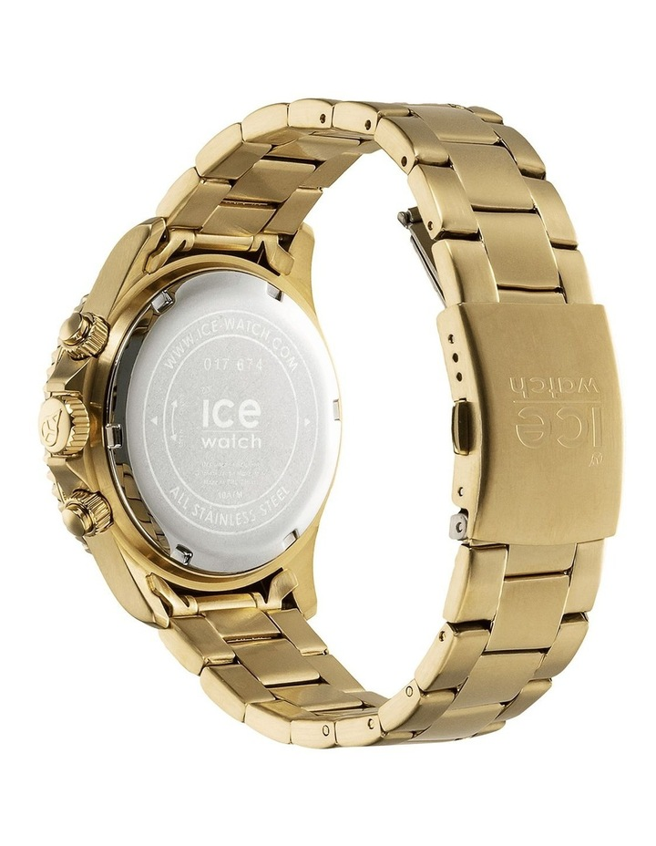 Ice Steel Blue Medium Gold Silicone Quartz Watch image 5