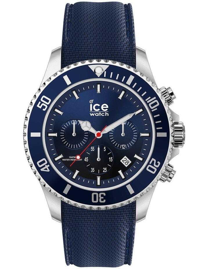 Ice Steel Marine Medium Blue Silicone Quartz Watch image 1