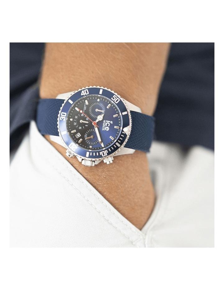 Ice Steel Marine Medium Blue Silicone Quartz Watch image 2