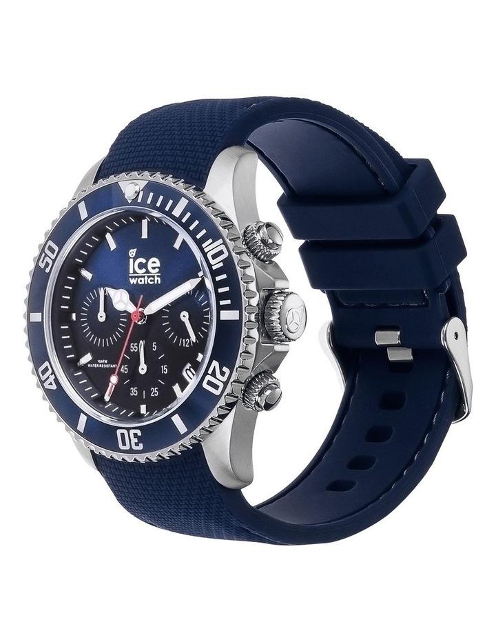 Ice Steel Marine Medium Blue Silicone Quartz Watch image 3