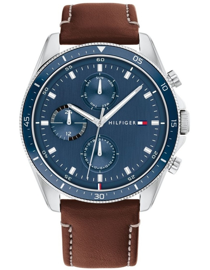 Brown Leather Men's Multi-Function Watch image 1