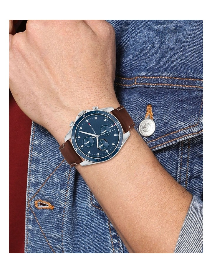 Brown Leather Men's Multi-Function Watch image 4