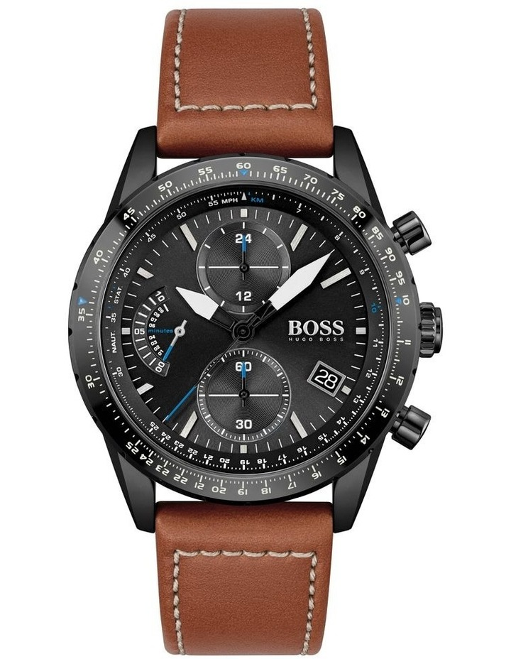 Pilot Edition Chrono Brown Leather Men's Watch image 1