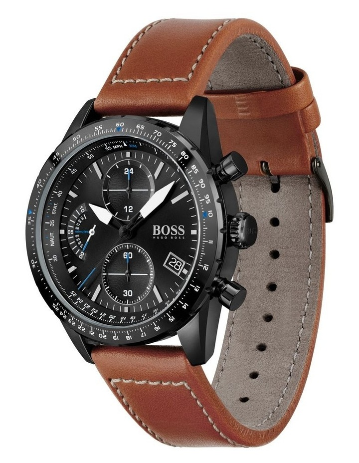 Pilot Edition Chrono Brown Leather Men's Watch image 2