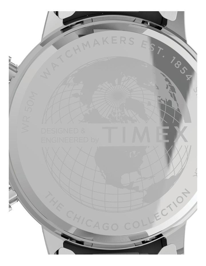 Chicago Chrono Silver Tone Watch image 4