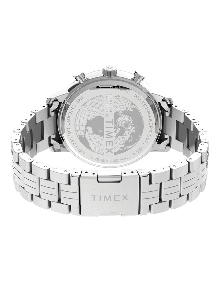 Chicago Chrono Silver Tone Watch image 5