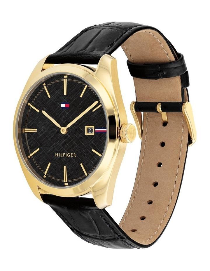 Black Leather Men's Watch image 2