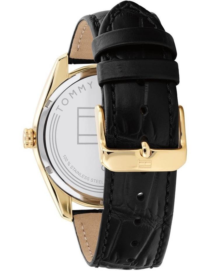 Black Leather Men's Watch image 3