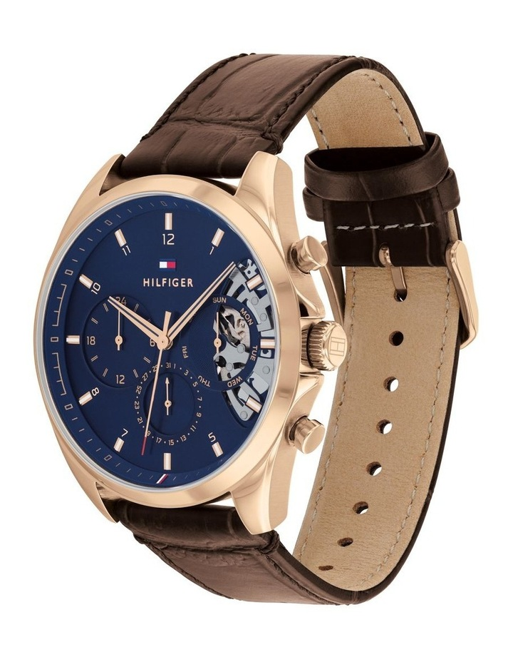 Brown Leather Men's Multi-Function Watch image 2