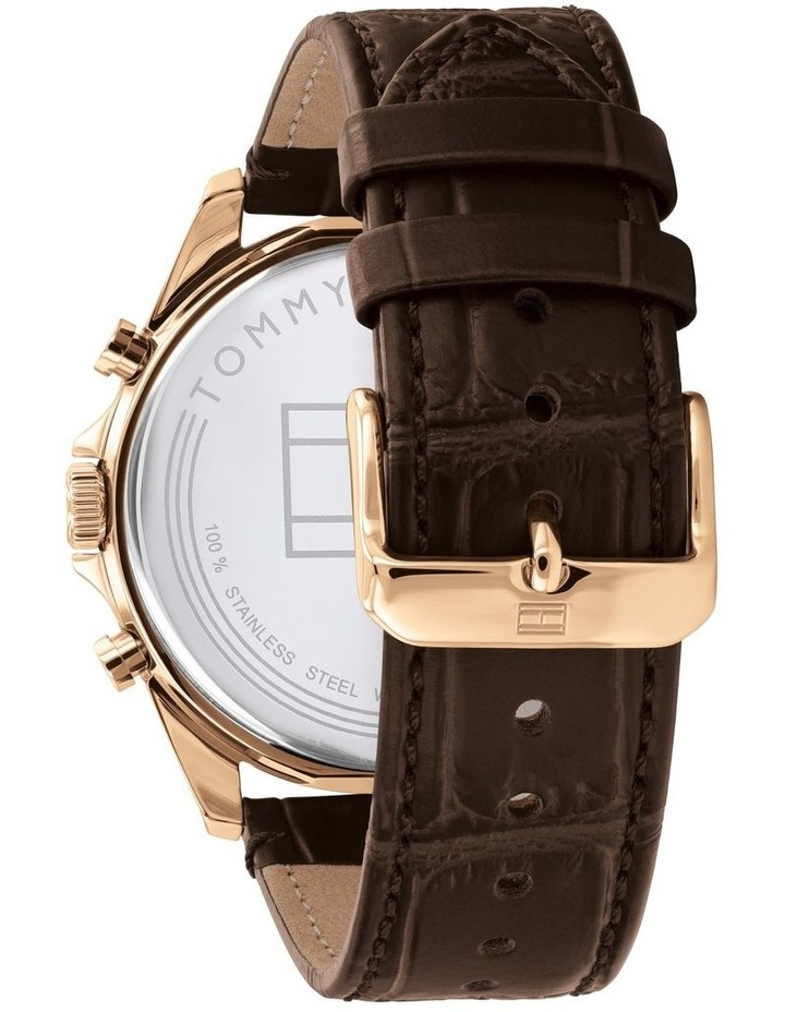 Brown Leather Men's Multi-Function Watch image 3