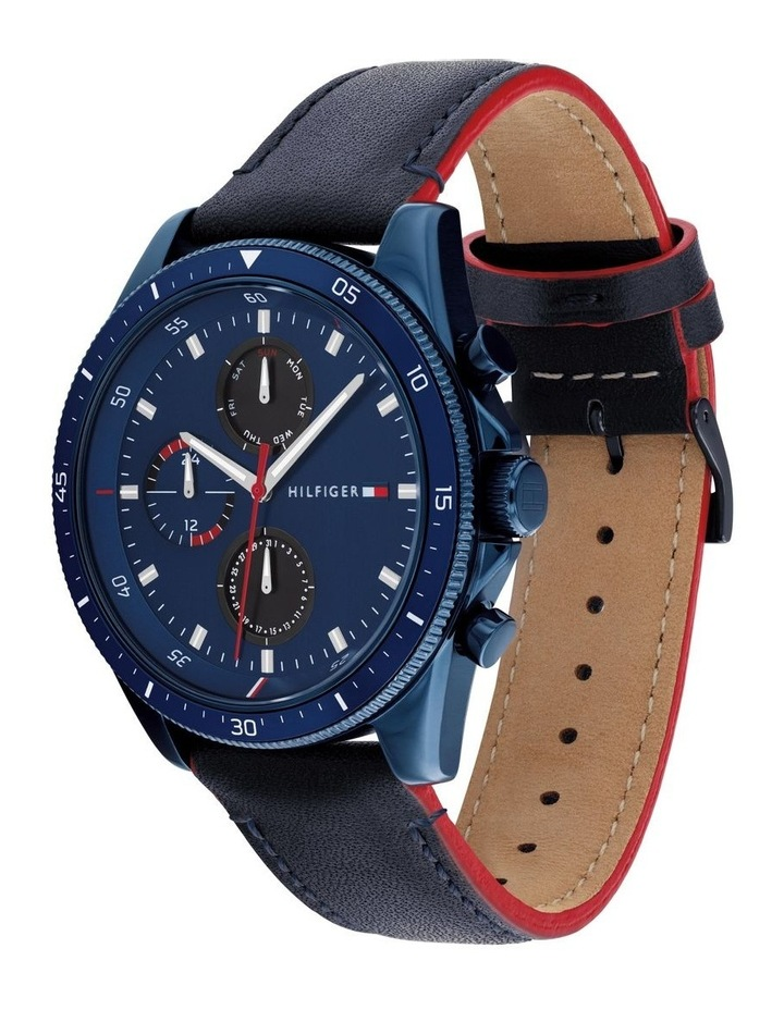 Blue Leather Men's Multi-Function Watch image 2