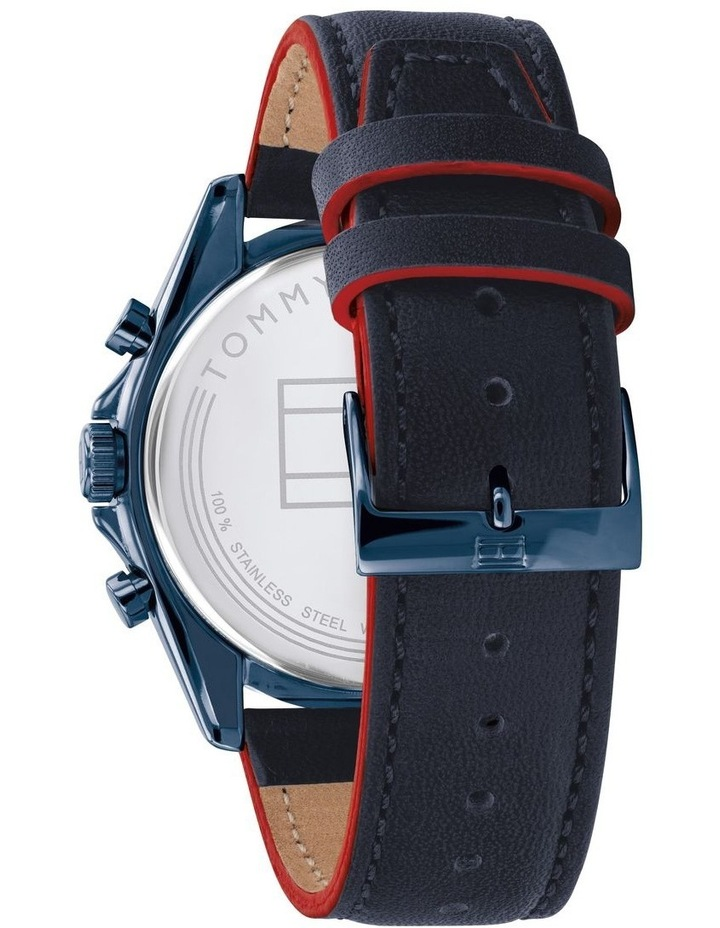Blue Leather Men's Multi-Function Watch image 3