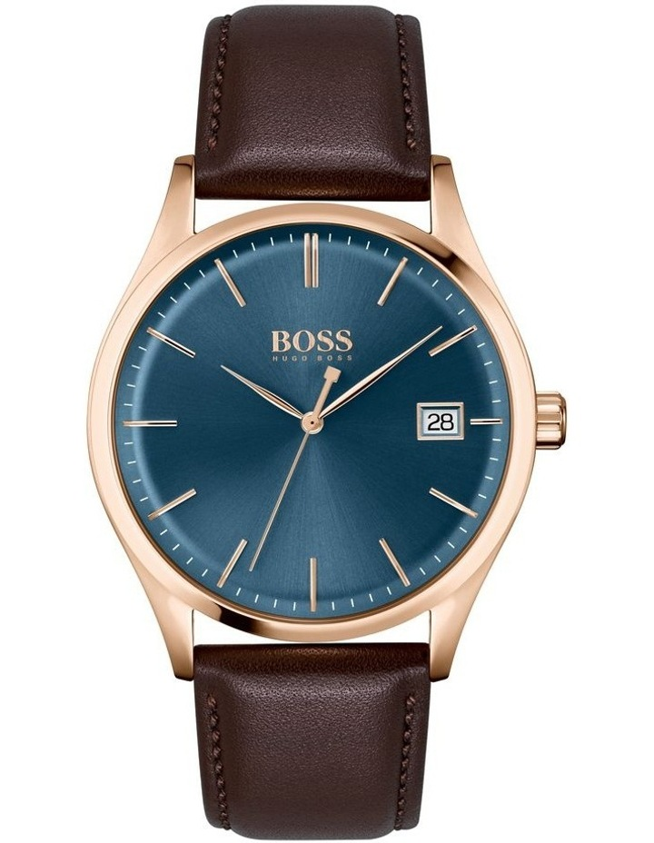 Classic Brown Leather Men's Watch image 1