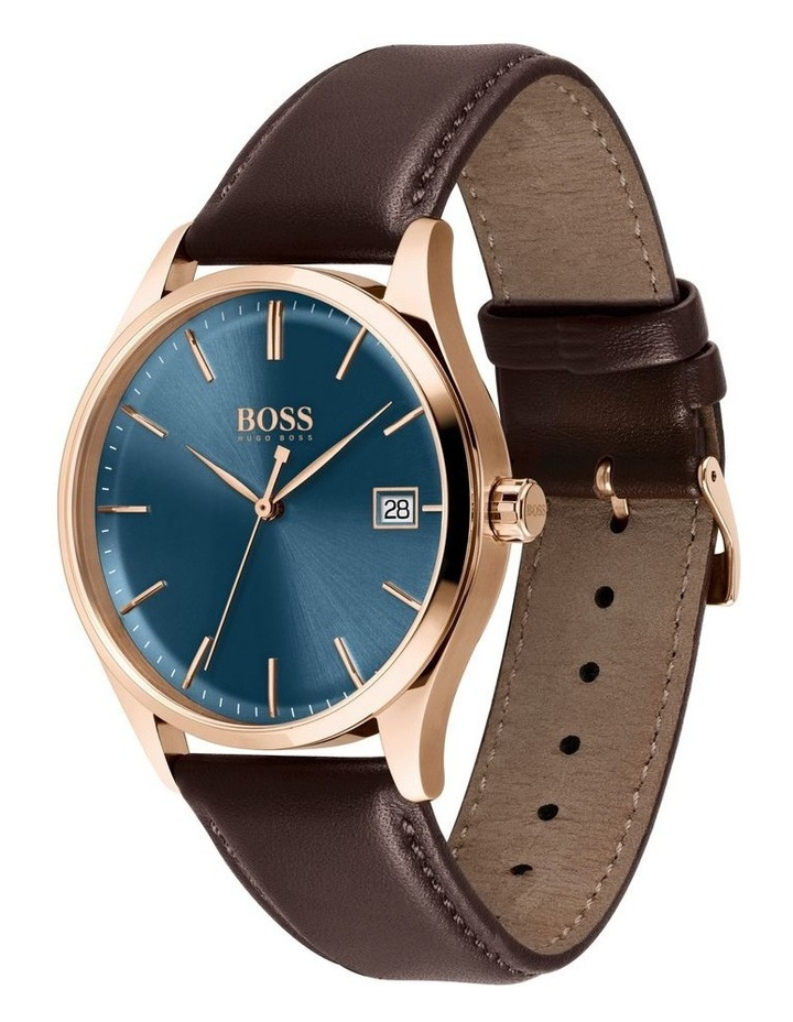 Classic Brown Leather Men's Watch image 2