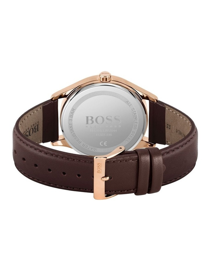 Classic Brown Leather Men's Watch image 3